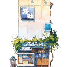 Artist living in Tokyo captures the beauty of ordinary buildings in his Tokyo Storefront series 10
