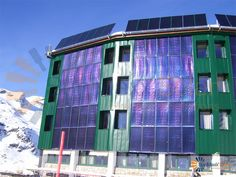 Vertical Installed Flat Plate Solar Collectors In Commercial Solar Heating System