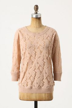 $68 - Brushed Lace Pullover - Anthropologie