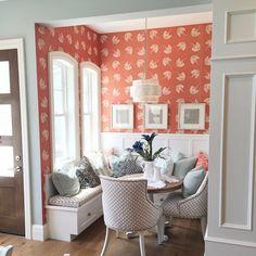 "Breakfast nook, Hexagons, kid's room, sliding door; ""Murphy"" craft space/office.....all awesome ideas!!"