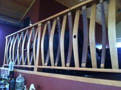 Wine barrel railing- I love it