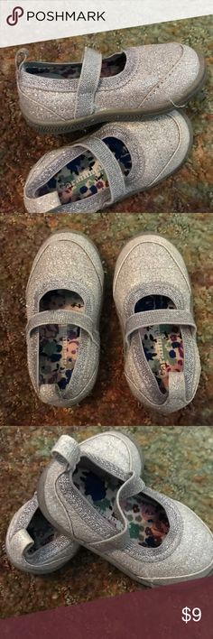 Toddler dress shoes Silver glitter dress shoes by Garanimals size 4! With strap barely worn! I have two pair! $9 a pair both are size 4 garanimals Shoes Dress Shoes