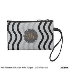 Personalized Romantic Wave Stripes Gray Bag