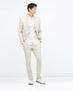 Image 1 of STRETCH LINEN JACKET from Zara