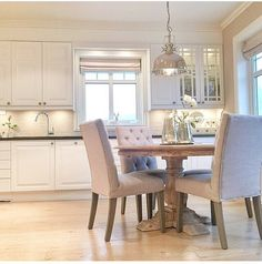 White clean cut kitchen classy table chairs country