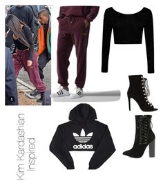"""""""I N S P O"""" by jasminekellly on Polyvore featuring adidas and Olivia Jaymes"""