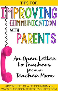 Parent involvement in the classroom directly impacts student achievement. Use these tips from a teacher mom to improve parent communication and maximize the positive impact it has on your students! Parents As Teachers, New Teachers, Teacher Tools, Teacher Resources, Parent Teacher Communication, Classroom Management Strategies, Behavior Management, Letter To Teacher, Instructional Coaching