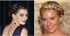 Sienna Miller e Anne Hathaway cabelos