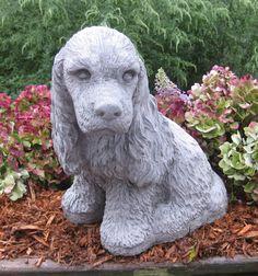 Cocker Spaniel statue large sitting