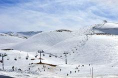 Lebanon, Faraya,  the largest of six ski resorts in Lebanon
