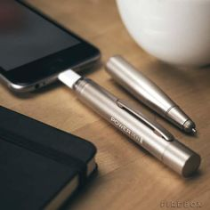 A pen and a phone charger. The two most borrowed items in the entire world, finally united in one ground-breaking device – The Power Pen. Cool Technology, Technology Gadgets, Portable Phone Charger, Portable Battery, Smartphone, Iphone Gadgets, Mobile Gadgets, Ipad Accessories, Weird Facts
