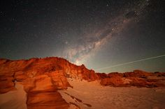 Here, a shooting star can be seen over Cape Leveque. | These Stunning Photos Of The Milky Way Will Give You Chills