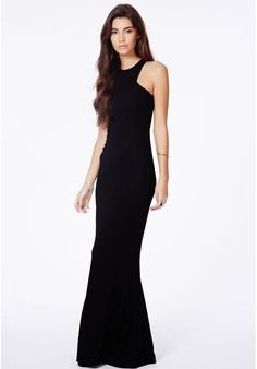 Missguided Kaisa Black High Neck Maxi Dress on shopstyle.com