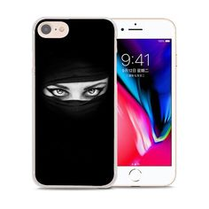 BiNFUL Arab Woman With Niqab Face eye style clear Ultra Thin Phone Cases Cover for Apple iPhone 7 7Plus 6s 6Plus 5 5s X 8 8Plus