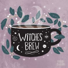 """robinsheldonillustration: """" Witches Brew - Robin Sheldon {illustration & design} Been in a witchy mood lately. Is it October yet? """""""