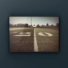 This listing is for one print of a football field from along the 20 yard line. This was taken in Portland Oregon The brown, distressed tones will add so much warmth and character to your space. This print would look great in your vintage sports nursery, man cave or boys room. Please select either Vintage Sports Nursery, Vintage Sports Decor, Modern Art Paintings, Easy Paintings, Large Canvas Prints, Vintage Art Prints, Wall Canvas, Wall Art Prints, Football Field
