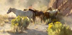 Boxed In: Original Western art of cowboy with horse and rider by 2009 Prix de West Award-winning artist Tom Browning