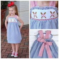 ea8bb640f Smocked Baseball Dress Toddler Dress