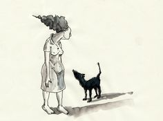 """otra mujer con otro perro"""
