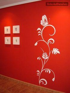 Creative Wall Painting, Creative Wall Decor, Wall Painting Decor, Diy Wall Decor, Girl Bedroom Walls, Bedroom Wall Colors, House Wall Design, Painting Textured Walls, Wall Paint Patterns