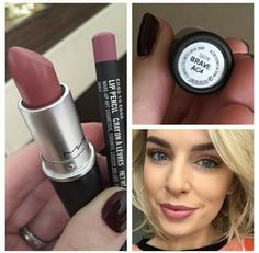 Mac brave lipstick and edge to edge liner - make up - Maquillaje Beauty Make-up, Beauty Hacks, Beauty Style, Fashion Beauty, Beauty Tips, Diy Cosmetic, Pinterest Makeup, Lip Pencil, Love Makeup