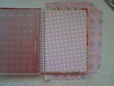 Estrela da Manhã: PAP - Encapando caderno espiral com tecido