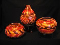 Choctaw Indian Designs | Gourd Pots inspired by Choctaw river cane basket designs 2012 | Flickr ...