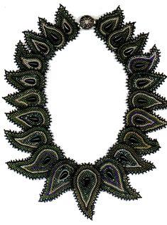 Diane Fitzgerald, International Instructor, Bead Artist and Designer - Paisley Necklace