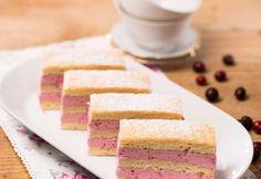 Kokos-Biskuit-Schnitten » Kochrezepte von Kochen & Küche Vanilla Cake, Desserts, Food, Coconut Flakes, Raspberries, Oven, Dessert Ideas, Cooking Recipes, Vanilla Sponge Cake