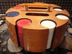 Bakelite Handled Poker Chip Rack #money #poker Poker Night, Poker Chips, Game Room, Ideas, Living Room Playroom, Play Rooms, Game Rooms, Thoughts, Arcade Room