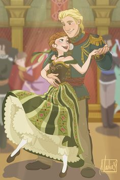 A Beautiful Stranger - KristAnna by xxMeMoRiEzxx This is a cute picture! i don't really like Kristoff's hair thought...