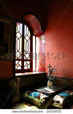 Waterpipe In A Window At Marrakesh Morocco