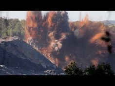 HUGE Mining Explosion Caught on Camera - YouTube