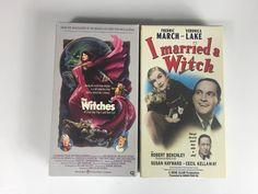 Lot of 2 The Witches, I married A Witch (VHS) Veronica Lake by MsStreetUrchin on Etsy