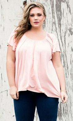Pretty Flutter Top (Soft Shades) 45.90 by SWAK Designs #swakdesigns #PlusSize #curvy