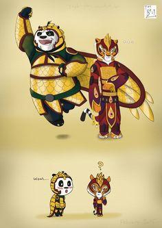 Po and Tigress by Taylor-Denna.deviantart.com on @DeviantArt