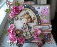 Wild Orchid Crafts: Peggy with gorgeous pink flowers