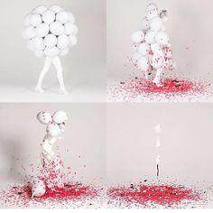 My new quadriptych  piece from my Balloon Series which explores the making of something for the purpose of its destruction - and finding the beauty, pattern, and rhythm in this... // Mi nueva obra, es un cuadriptico de mi serie de bombas que explora el proceso de hacer algo con el propósito de destruirlo y explotarlo - buscando en su destrucción, en el ritmo y en los patrones, la belleza #nicolefurmanart #balloonseries #bodypaint #bodyart #bodypainting #balloons #nicolefurman #cheznicolette…
