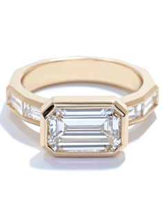 Eternal Promise.  An Emerald Cut Custom Ring from the Art-Deco collection - Ascot Diamonds
