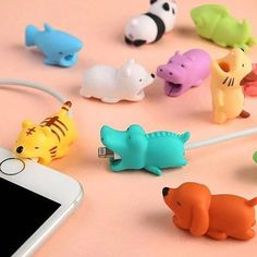 Cute Animal Cable Protector Cable Bite For iPhone USB Cable Chompers Charger Wire Holder For iPhone Cable Dropshipping(China) Iphone Ladegerät, Cable Iphone, Iphone Charger, Iphone Cases, Iphone Macbook, Iphone Watch, Phone Charger Holder, Iphone Holder, Cable Bite
