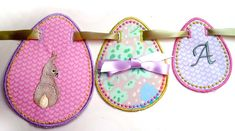 More Super easy Easter Egg Bunting/Banners/ couldn't downloand in JEF?