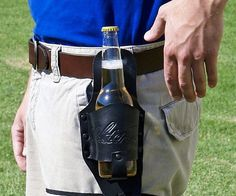 Leather Beer Holster | 22 Food Gadgets That Will Make Camping Way More Fun