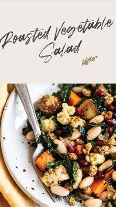 Healthy Thanksgiving Recipes, Healthy Salad Recipes, Whole Food Recipes, Vegetarian Recipes, Cooking Recipes, Dairy Free Salads, Dairy Free Recipes, Clean Eating, Healthy Eating