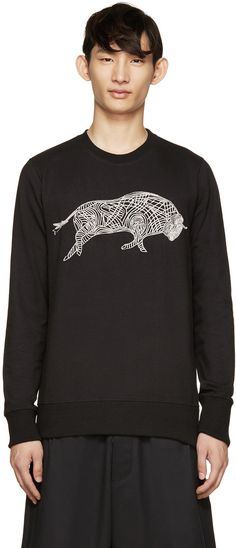 Markus Lupfer - Black Chain Embroidery James Sweater