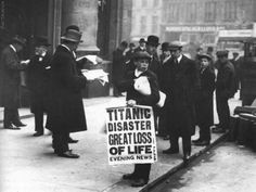 The day after the Titanic disaster. London, April 16, 1912