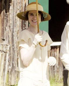 Delightful Lady Mary at the Downton Cricket  Match