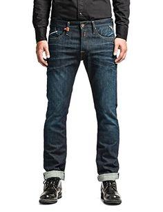 Replay - Blue Waitom Regular Slim Fit Jeans - Mens -  Blue - Blau (Blue Denim 7) - 32W/34L Replay http://www.amazon.co.uk/dp/B00KD6WDCE/ref=cm_sw_r_pi_dp_jWP9wb0N5W8PC
