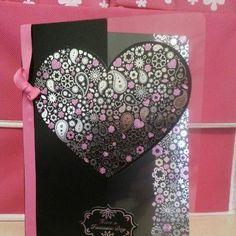 Pretty heart card made with acetate