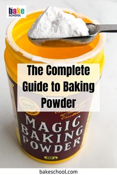 Are you wondering what baking powder does to cakes and cookies? Find out everything you need to know about this essential ingredient in baking, like what baking powder is, how it's different from baking soda, the difference between single-acting and double-acting baking powder, how much baking powder you have to use when baking, does baking powder expire and how to check if it's still good, and even how to make homemade baking powder if you find you've run out. Make Baking Powder, Homemade Baking Powder, Baking Powder Recipe, Baking Tips, Baking Recipes, Cake Recipes, Baking Hacks, What Is Baking