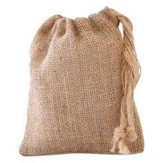 Custom Hessian String Bag